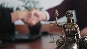 courtroom handshake
